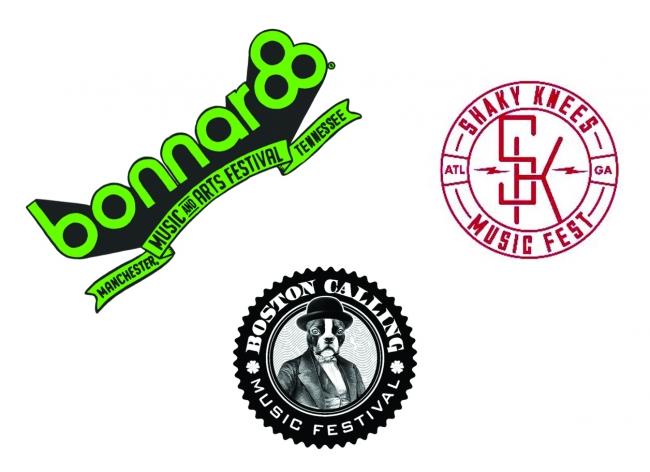 Festival line ups announced; Bonnaroo, Shaky Knees & Boston Calling