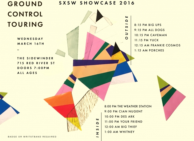 We're hosting our official SXSW showcase next Wednesday at The Sidewinder