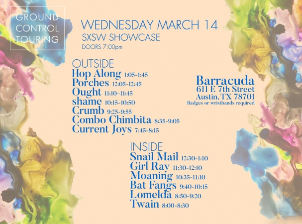 We're hosting our official SXSW showcase on Wed, 3/14 at Barracuda!